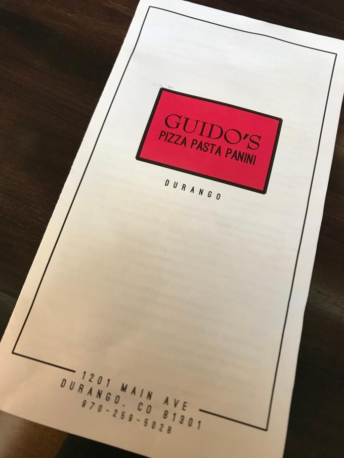 Guido's menu